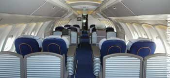 First Class im Upper Deck einer Boeing 747