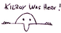 Kilroy was here! Symbol