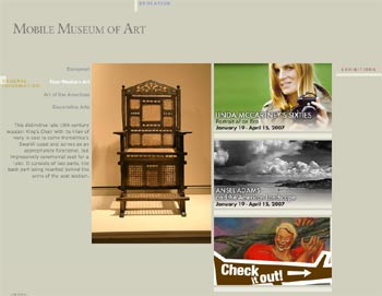 Website Museum of Art in Mobile