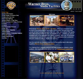 Website Warner Bros. Studios