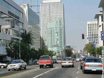 Wilshire Blvd, in Los Angeles