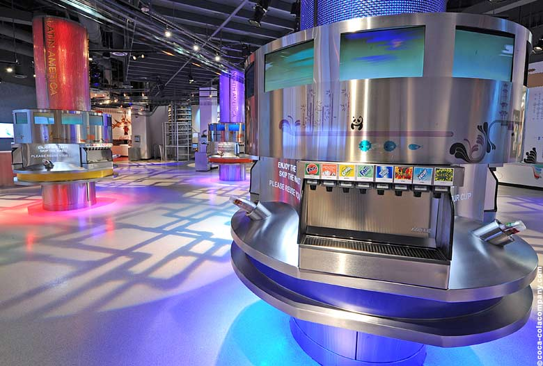 World of Coca-Cola Atlanta: 'Taste it' Probierbereich