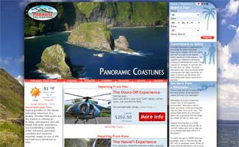 Hawaii Paradise Helicopters Website