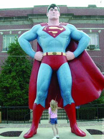 Superman in Metropolis, Illinois