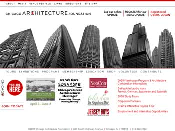 Chicago Architecture Foundation Website