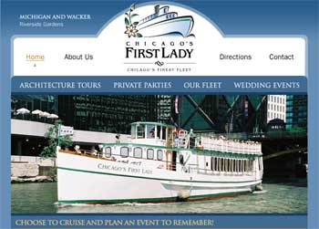 Chicago's 'First Lady' Boat Cruises Website