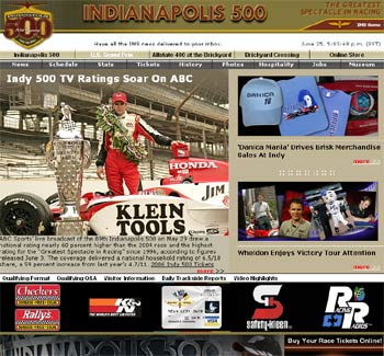 Indianapolis 500 Website