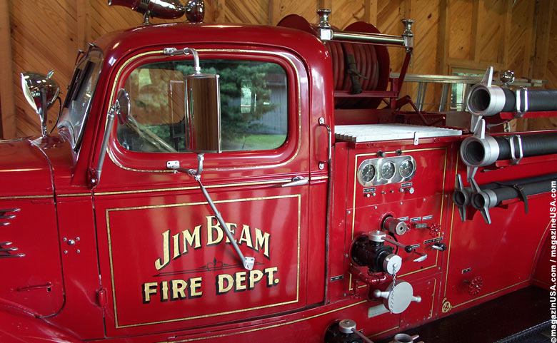 Jim Beam Distillery Fire Brigade Truck, Clermont, Kentucky
