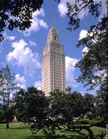 Das Louisiana State Capitol in Baton Rouge