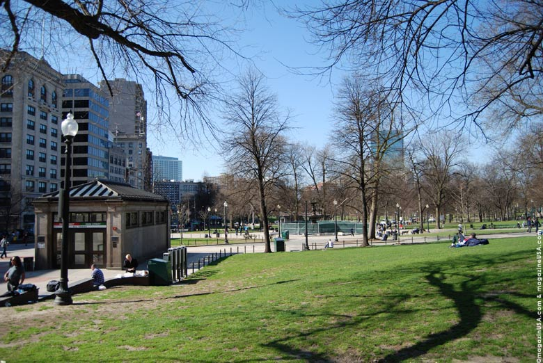 Inmitten der City liegt der Boston Common