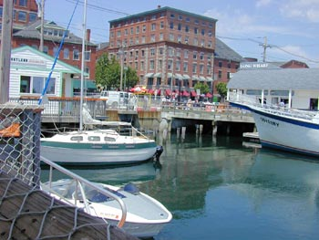 Long Wharf in Portland, Maine