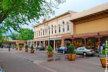 Die Plaza in Downtown Santa Fe