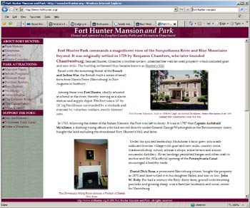 Website Fort Hunter Mansion and Park