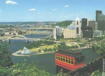 Die Duquesne Incline in Pittsburgh,PA