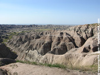 Badlands skurrile Landschaft.