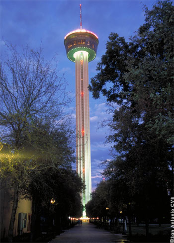 Tower of the Americas by night