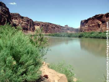 Colorado River bei Moab, Utah Highway 279