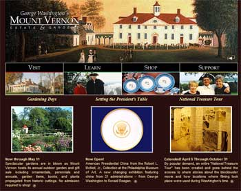 Mount Vernon Estate & Gardens Website