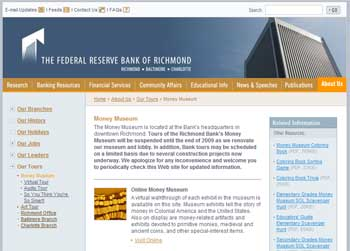 Federal Reserve Money Museum @ the Federal Reserve Bank in Richmond